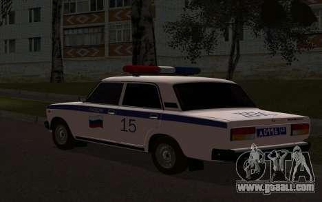 VAZ 2107 Police for GTA San Andreas