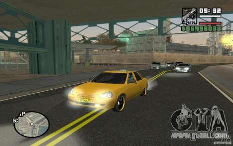 VAZ Lada Priora Taxi for GTA San Andreas