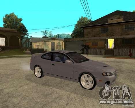 2005 Pontiac GTO for GTA San Andreas right view