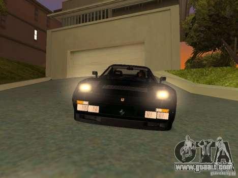 Ferrari 288 GTO for GTA San Andreas interior