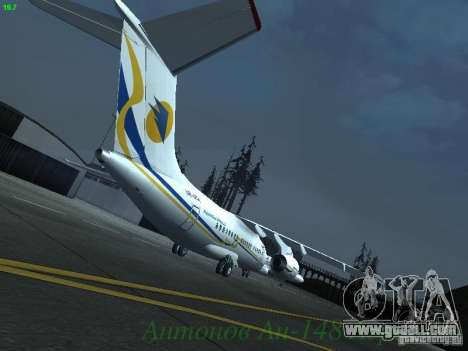 Antonov an-148 Aerosvit Ukrainian Airlines for GTA San Andreas right view