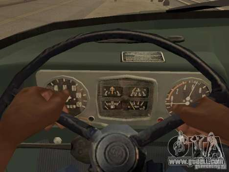 ZIL 131 Truck for GTA San Andreas inner view