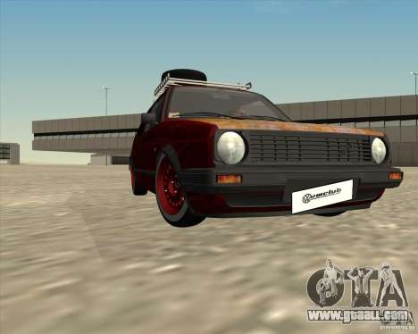 VW Golf II Shadow Crew for GTA San Andreas upper view