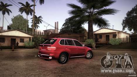 BMW X5 with Wagon BEAM Tuning for GTA San Andreas bottom view