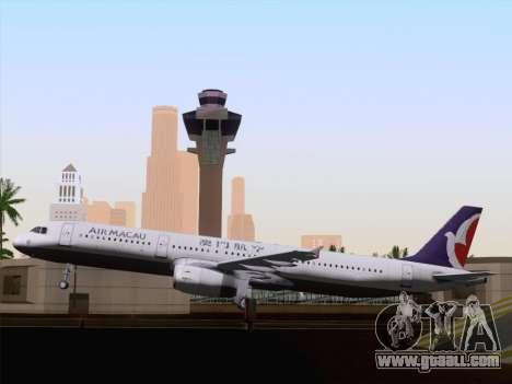 Airbus A321 Air Macau for GTA San Andreas side view