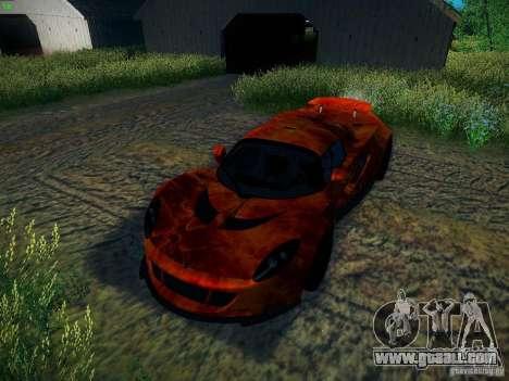 Hennessey Venom GT Spyder for GTA San Andreas bottom view