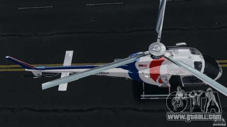 Eurocopter AS350 Ecureuil (Squirrel) Malaysia for GTA 4 back view