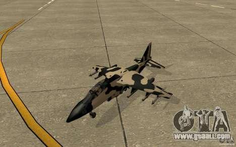 Camo Hydra for GTA San Andreas left view