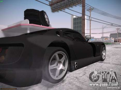 TVR Cerbera Speed 12 for GTA San Andreas inner view