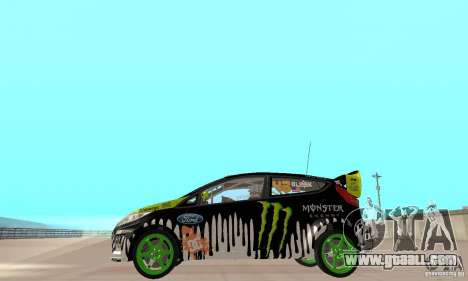 Ford Fiesta 2011 Ken Blocks for GTA San Andreas back left view
