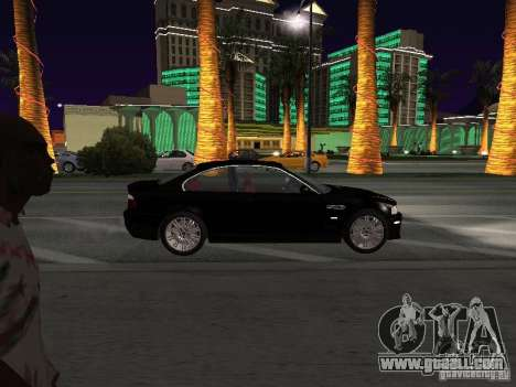 BMW M3 GT-R Stock for GTA San Andreas back view