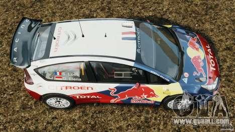 Citroen C4 WRC for GTA 4 right view