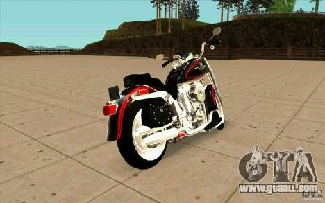 Harley Davidson FatBoy (Terminator 2) for GTA San Andreas back left view