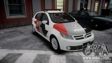 Volkswagen Gol G5 PMSP [ELS] for GTA 4 back view