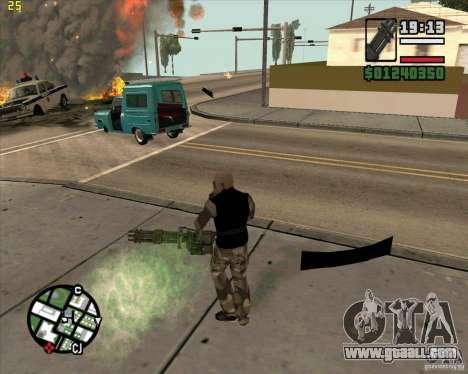 Minigun from Call of Duty Black Ops for GTA San Andreas second screenshot
