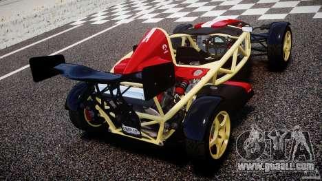 Ariel Atom 3 V8 2012 Custom Mugen for GTA 4 back left view