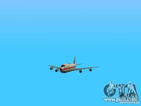 Boeing 747-100 for GTA San Andreas side view