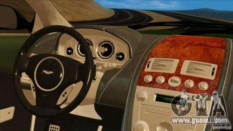 Aston Martin DB9 for GTA San Andreas upper view