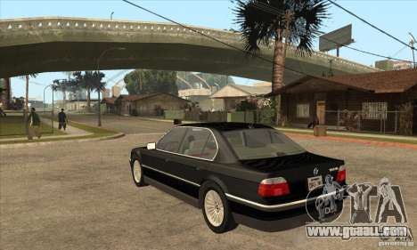BMW E38 750IL for GTA San Andreas back left view