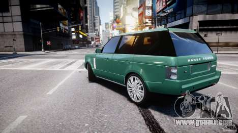 Range Rover Vogue for GTA 4 back left view