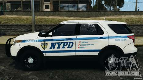 Ford Explorer NYPD ESU 2013 [ELS] for GTA 4 left view