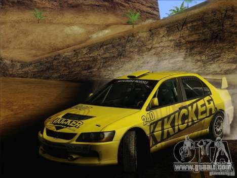 Mitsubishi Lancer Evolution IX Rally for GTA San Andreas wheels