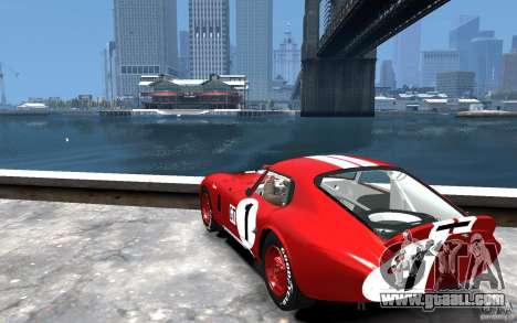 Shelby Cobra Daytona Coupe 1965 for GTA 4 back left view