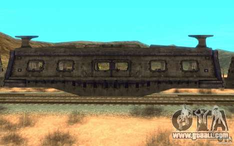 A train from the game Aliens vs Predator v1 for GTA San Andreas back left view