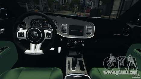 Dodge Charger SRT8 2012 v2.0 for GTA 4 back view