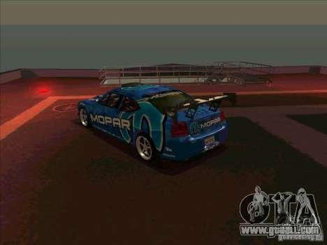 Mopar Dodge Charger for GTA San Andreas back left view