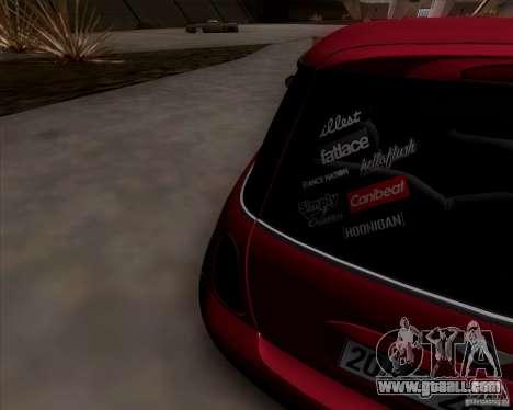 Mini Cooper S Euro for GTA San Andreas back view