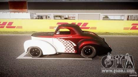 Willys Americar 1941 for GTA 4 inner view