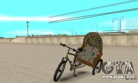 Manual Rickshaw v2 Skin2 for GTA San Andreas