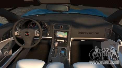 Chevrolet Corvette C6 2010 Convertible v2.0 for GTA 4 right view