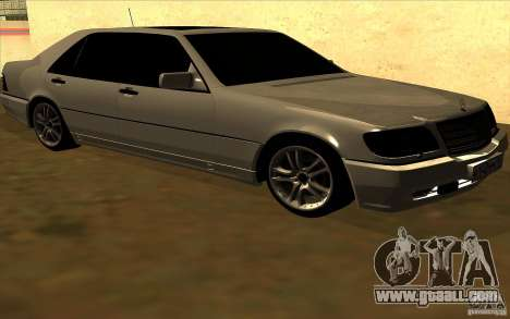 Mercedes-Benz S600L 1998 for GTA San Andreas back left view