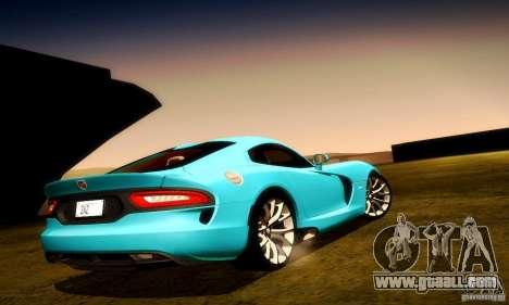 Dodge Viper SRT  GTS for GTA San Andreas wheels