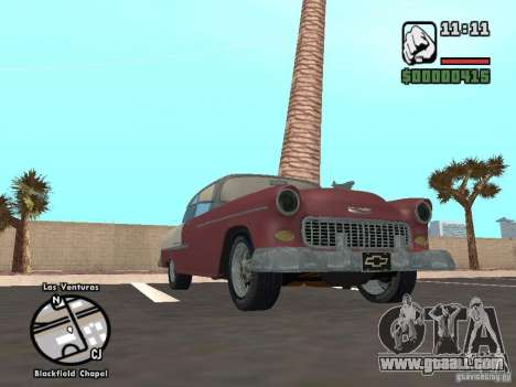 1955 Chevy Belair Sports Coupe for GTA San Andreas