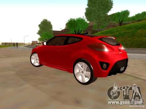 Hyundai Veloster Turbo v1.0 for GTA San Andreas back view