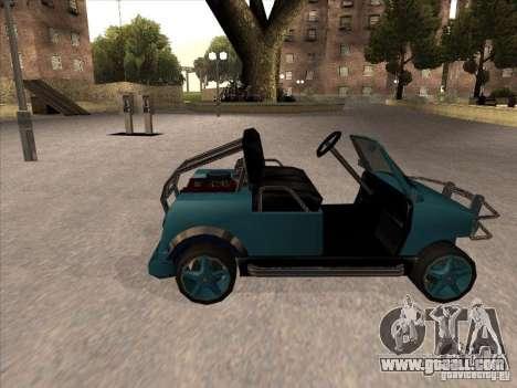 Small Cabrio for GTA San Andreas left view