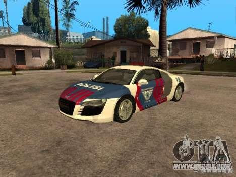 Audi R8 Police Indonesia for GTA San Andreas