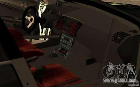 Mitsubishi Lancer Evolution X Monster Energy for GTA San Andreas back view