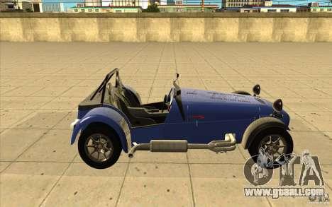 Caterham Superlight R500 for GTA San Andreas inner view