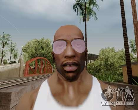 Pink Aviator glasses for GTA San Andreas