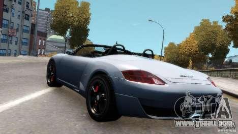 RUF RK Spyder 2006 [EPM] for GTA 4 back view