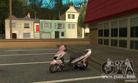 Honda Vario-Velg Racing for GTA San Andreas back view