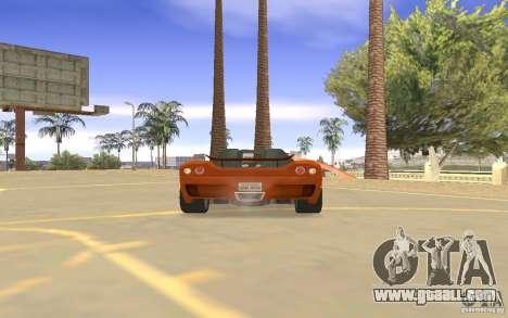 Veloche Car for GTA San Andreas inner view