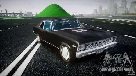 Chevrolet Nova 1969 for GTA 4 back view