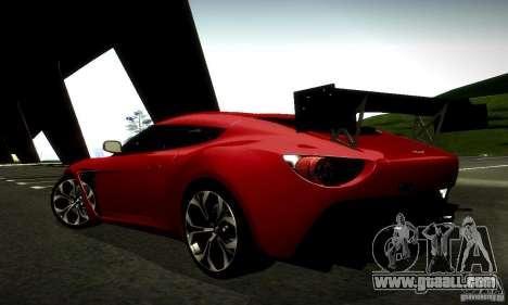 Aston Martin V12 Zagato Final for GTA San Andreas upper view