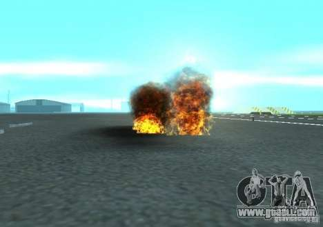 New effects of explosions for GTA San Andreas fifth screenshot