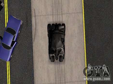 Tumbler Batmobile 2.0 for GTA San Andreas side view
